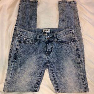Acid Wash Mudd Skinny Jeans